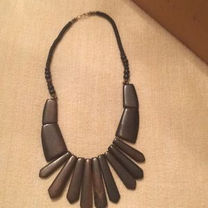 Natural material-brown ethnic inspired  necklace
